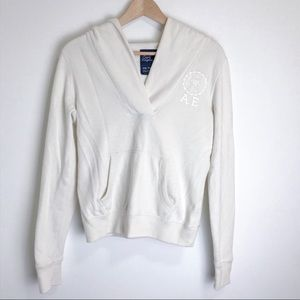 AMERICAN EAGLE HOODIE PULLOVER V Neck XS